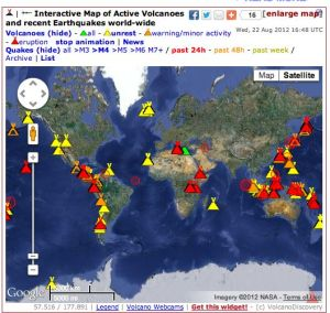 Interactive map of active volcanoes and recent earthquakes world new feature added check it out gumiabroncs Choice Image